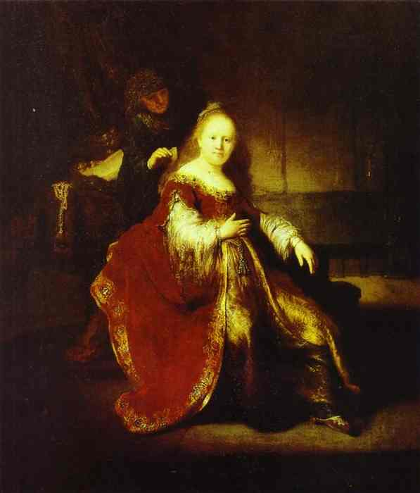 Esther Preparing to Intercede with Assuerus - Rembrandt van Rijn