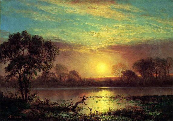 Evening at Owens Lake, California - Albert Bierstadt