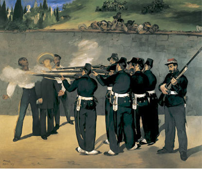 Execution of the Emperor Maximilian - Edouard Manet