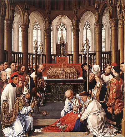 Exhumation of St Hubert - Rogier van der Weyden