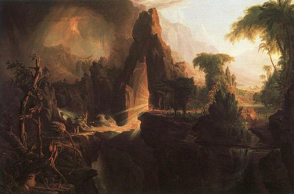 Expulsion from the Garden of Eden - Thomas Cole