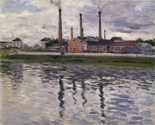 Factories at Argenteuil - Gustave Caillebotte
