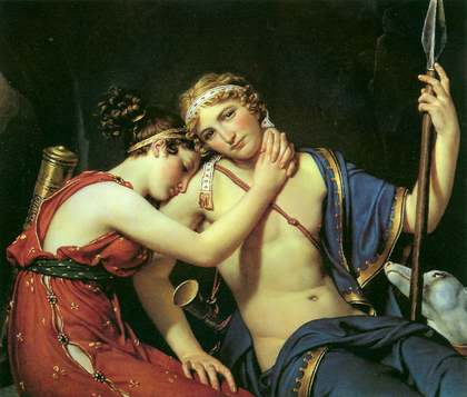 Farewell of Telemachus Eucharis - Jacques Louis David