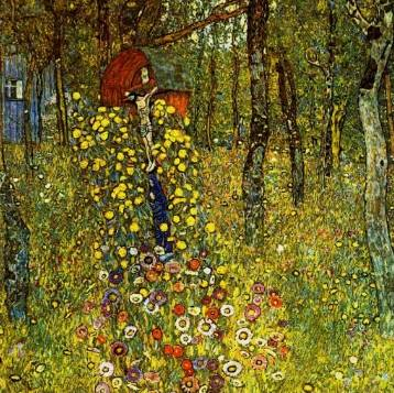 Farm Garden and Crucifix - Gustav Klimt