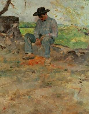 Farmboy Who Worked at the Family's Estate (Young Routy) - Henri de Toulouse Lautrec