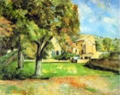 Trees in Park at Jas de Bouffan 1885-87 Paul Cezanne