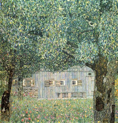 Farmhouse in Upper Austria - Gustav Klimt