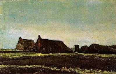 Farmhouses - Vincent van Gogh