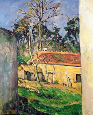 Farmyard in Auvers - Paul Cezanne