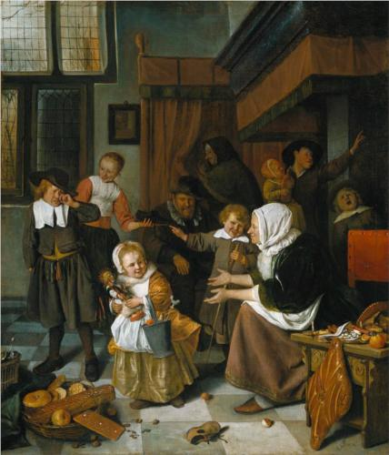Feast of St Nicholas - Jan Steen