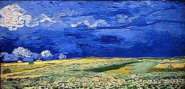 Field Under Stormy Sky - Vincent van Gogh