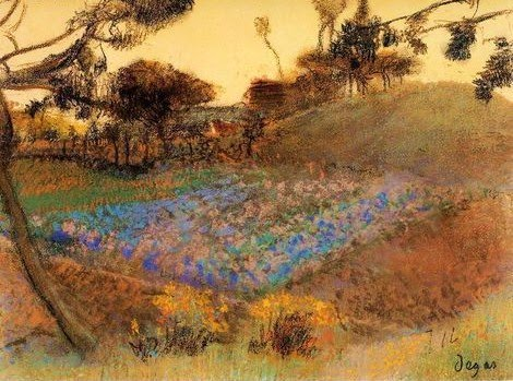 Field of Flax - Edgar Degas