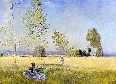 Fields of Bezons - Claude Monet