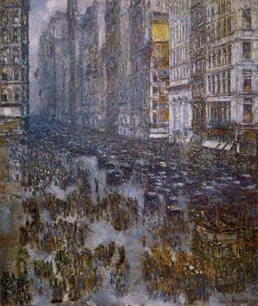 Fifth Avenue - Childe Hassam