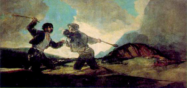 Fight with Cudgels - Francisco de Goya