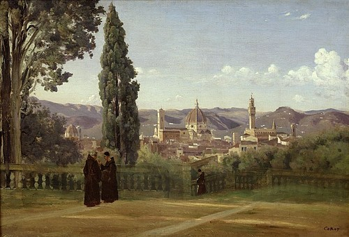 Florence from the Boboli Gardens - Jean Baptiste Camille Corot