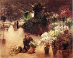 Flower Mart - Theodore Clement Steele