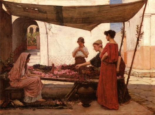 Flower Stall - John William Waterhouse