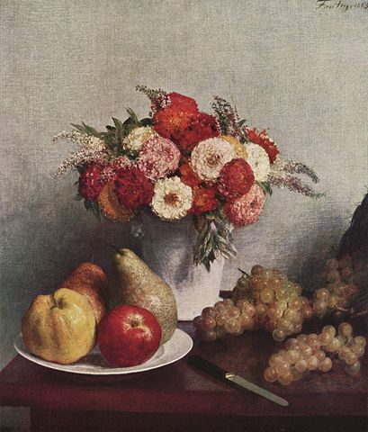 Flowers and Fruit - Henri Fantin-Latour
