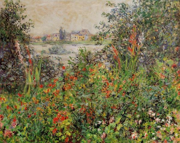 Flowers at Vétheuil - Claude Monet