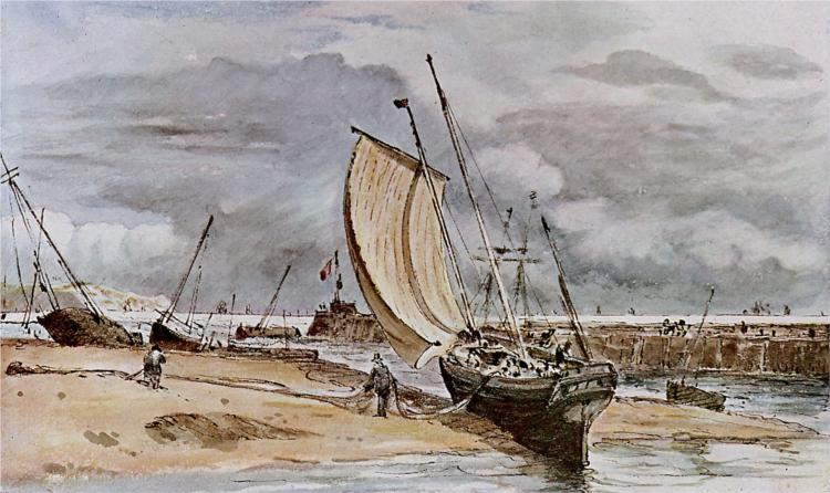 Fokstone Harbor - John Constable