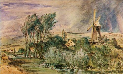 Foord Road Mill, Folkestone - John Constable