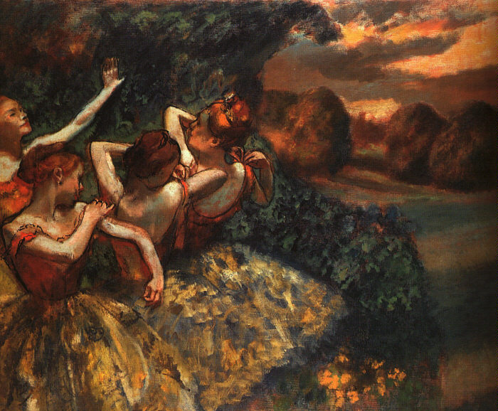 Four Dancers - Edgar Degas