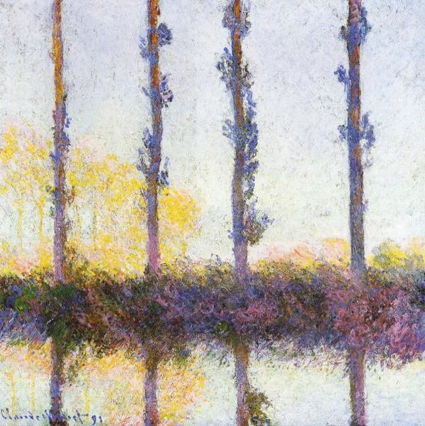 Four Trees 1891 - Claude Monet