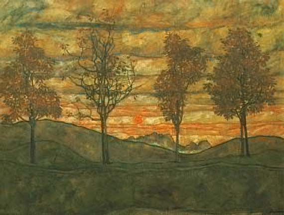 Four Trees - Egon Schiele
