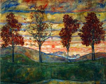 Four Trees II - Egon Schiele