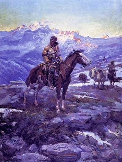 Free Trappers - Charles Marion Russell