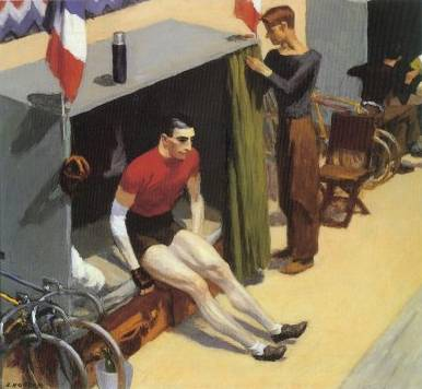 French Six Day Bicycle Racer - Edward Hopper