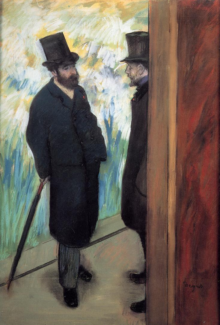 Friends in the Wings - Edgar Degas