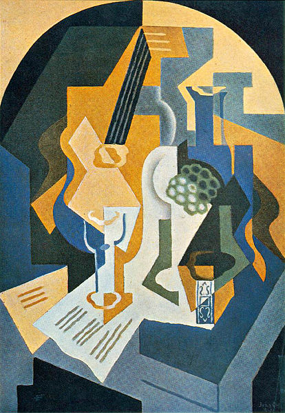 Fruit Dish and Mandolin - Juan Gris