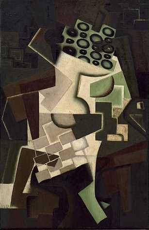 Fruit Dish on a Checkered Tablecloth 1917 - Juan Gris