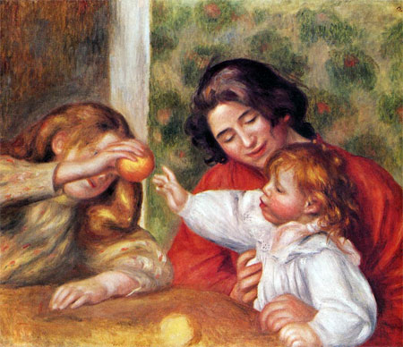 Gabrielle, Jean and a girl - Pierre Auguste Renoir