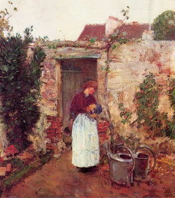 Garden Door - Childe Hassam