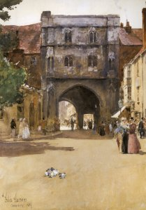 Gateway at Canterbury - Childe Hassam