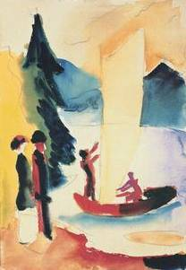 Gelbes Segel - August Macke