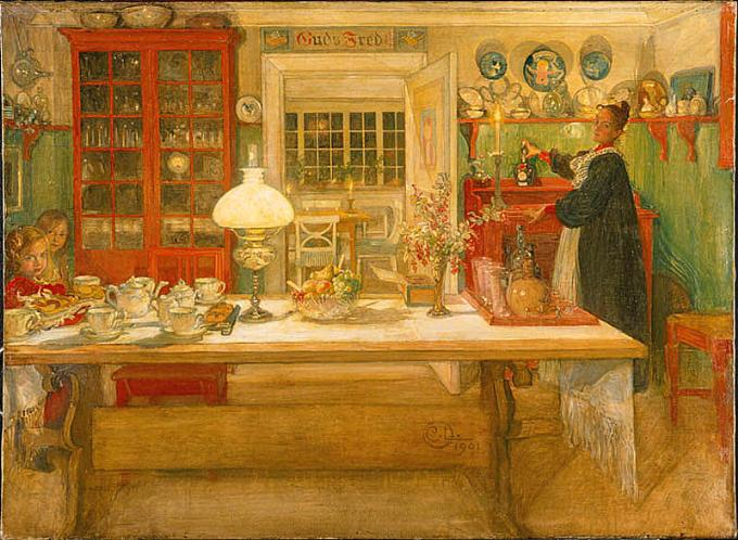 Getting Ready for a Game - Carl Larsson