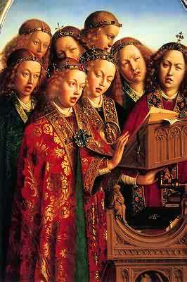 The Ghent Altapiece: Singing Angels 1432 - Jan van Eyck