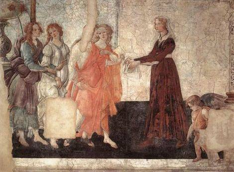 Gifts from Venus and Three Graces - Sandro Botticelli