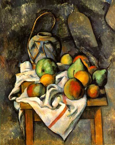 Ginger Jar & Fruit - Paul Cezanne