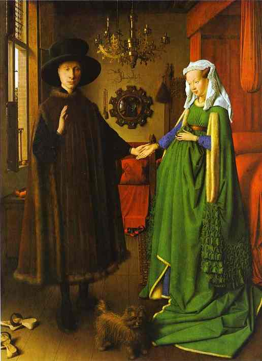 Giovanni Arnolfini & His Wife 1434 - Jan van Eyck