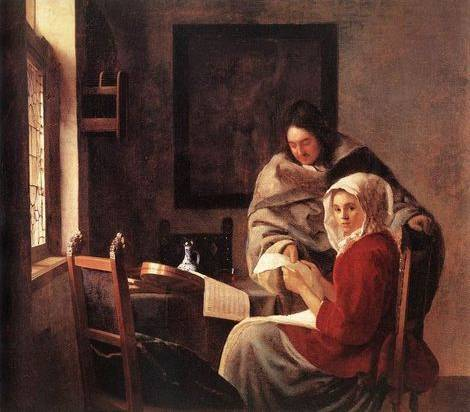 Girl Interrupted at Her Music - Jan Vermeer van Delft