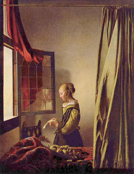Girl Reading a Letter at an Open Window - Jan Vermeer van Delft