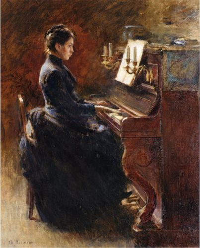 Girl at Piano - Theodore Robinson