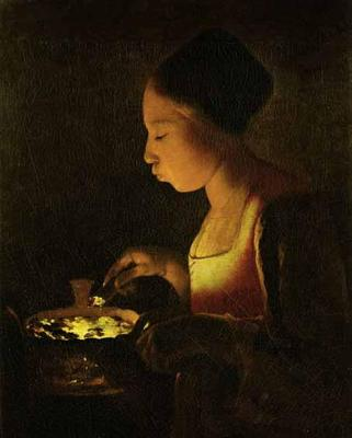 Girl with a Brazier - Georges de La Tour