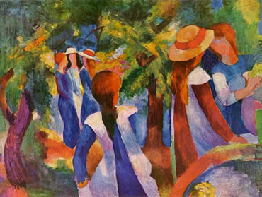 Girls Under the Trees - August Macke