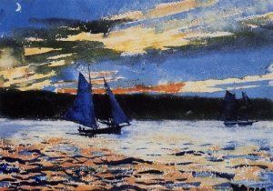 Gloucester Sunset - Winslow Homer
